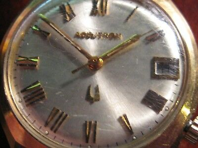Serviced Vintage 218D Accutron 14Kt Gold Filled  Tuning Fork Mens Watch M7