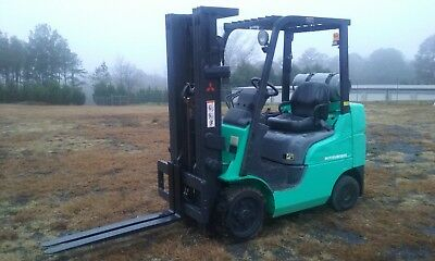 Used, Excellent Condition, Green Mitsubishi Caterpillar Forklift AMERICA INC.