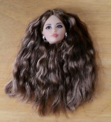 The Look Karl Face Brunette Head ONLY Hipster for OOAK
