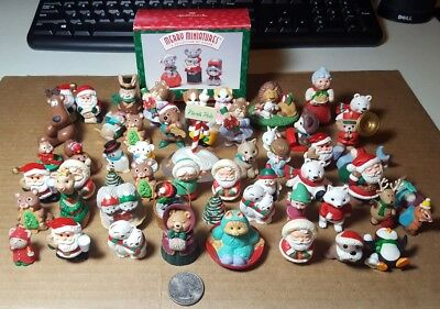Hallmark Merry Miniatures Christmas Winter Figures Lot of 58