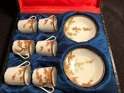 Vintage Japanese Hand Painted Eggshell Tea set-11pcs- Boxed