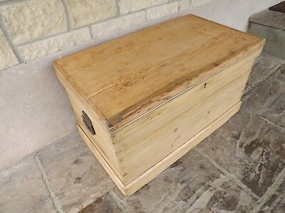 Vintage pine blanket box, newly refurbished by our own carpenters FREE DELIVERY