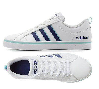 Women Shoes Size 7 Adidas VS Pace White Ink Blue Sneakers Adidas Trainers B74540