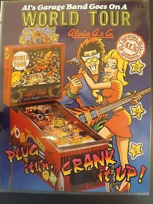 Al's Garage Band Goes On World Tour Pinball Flyer