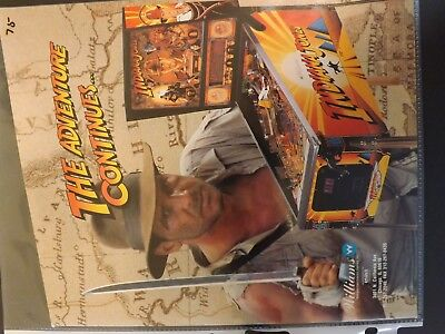 Indiana Jones The Adventure Continues Pinball Flyer