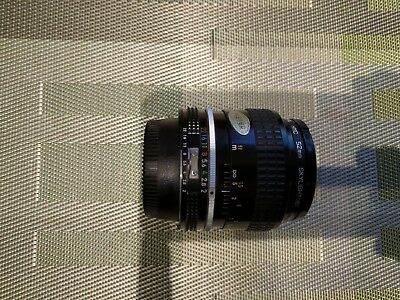 Nikon NIKKOR 35mm F/2 Lens, AI Series, Mint With Filter