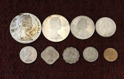 Bahama Mint Set 1970  / Includes Large $5 Silver Coin   #7