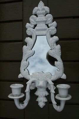 Cast Iron Wall Sconce & Mirror