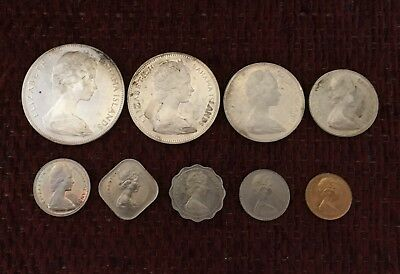 Bahama Mint Set 1970  / Includes Large $5 Silver Coin   #8