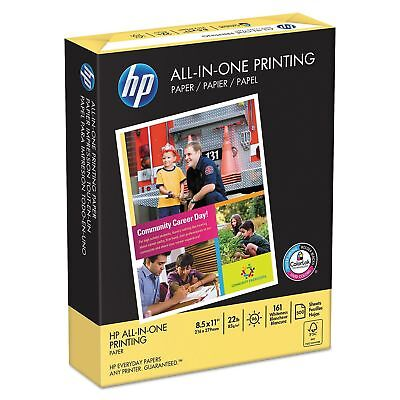 HP All-In-One Printing Paper, 22lb, 96 Bright, 8 1/2 x 11, White, 500 Sheets/Rea