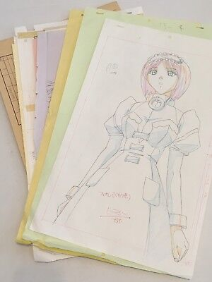 Chrono Crusade Anime Fiore Pan Sketch Sequence Set Not Chrno Cel