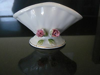 Vintage Antique Richard White With Pink Roses Small China Dish