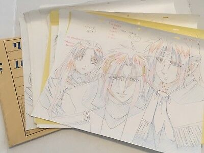 Chrono Crusade Anime Oversized Group Sketch Sequence Set Not Chrno Cel