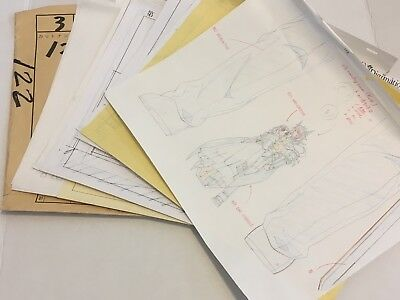 Chrono Crusade Anime Oversized Hero Sketch Sequence Set Not Chrno Cel