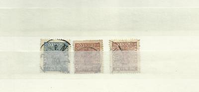Sweden early stamps x 3