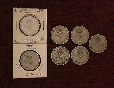 Great Britain Florine / 2 Shillings (15 coins)