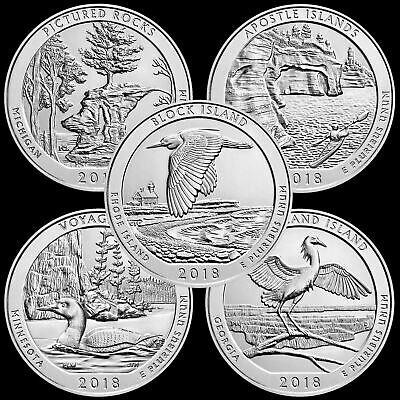 "2018 P,D,S Receive All 15 National Parks ATB ""Brilliant Uncirculated"" Quarters"
