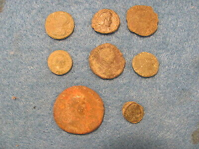 Fantastic Lot of 8 Roman Bronze Coins - Imperial and Provincial