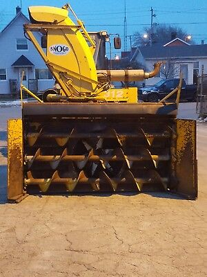 Snogo Model Mp3d Rotary Snow Blower Wheel Loader powered by 8.3L Cummins Diesel