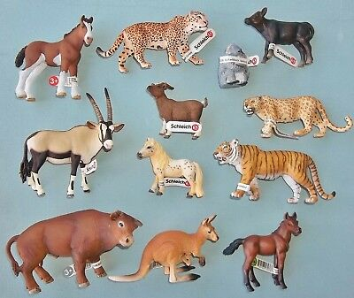 Mixed Lot of 12  Schleich Toy Wild Animal figures mint with tags