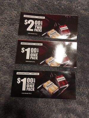 Winstone Cigarettes Coupons *$2, $1, $1*