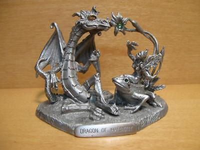 "Rawcliffe Pewter ""DRAGON OF HARMONY"" 2001 - Missy Leigh - no box 1111080"