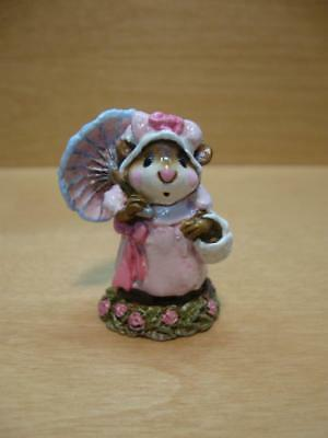 """Wee Forest Folk #M-170 """"POLLY'S PARASOL"""" Umbrella Mouse 1982 Annette Petersen"""