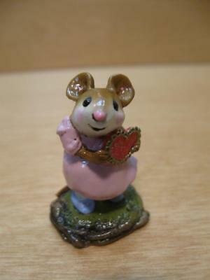 """Wee Forest Folk #M-80b """"I'M YOURS"""" VALENTINE Mouse 2000 - Annette Petersen"""