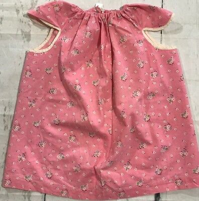 Handmade Vintage 3T Pink Daisy Floral Apron Swing Top Cap Sleeve Summer Spring
