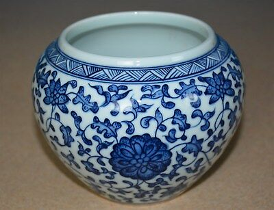 Fine Antique Chinese Blue And White Porcelain Bowl Marked Yongzheng Rare M7383
