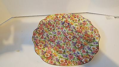 James Kent Staffordshire Du Barry Chintz Cake Plate