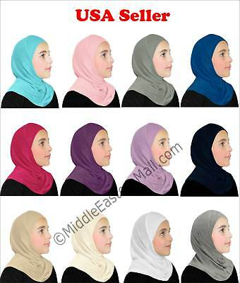 Kids Hijabs -back to School Muslim Scarf 1-PC Cotton Girl's Amira children Hijab