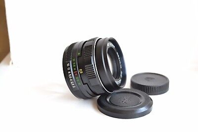 NEW! MC Helios 44M-6 2/58 USSR Russian lens S/N 92540824, with 2 caps!