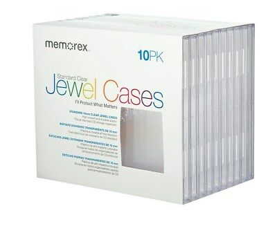 Memorex Standard Jewel Cases Shrinkwrapped 10/Pack