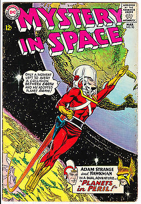 MYSTERY IN SPACE #90 - 1964-Adam Strange-Hawkman-PRICED TO SELL -12c cover-4.0VG