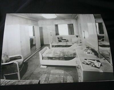 CGT French Line NORMANDIE Cabin Press Photo Viollet