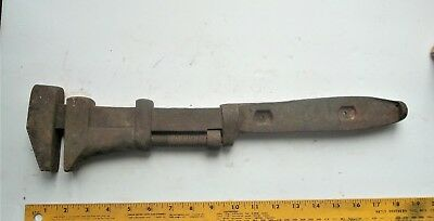 vintage railroad tool RAILROAD MONKEY WRENCH Rare Marking M & St L. RR 18 inches