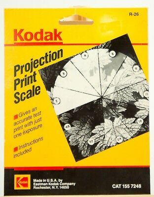 Kodak Projection Print Scale Catalog #155-7248 10 Section R-26 with Instructions