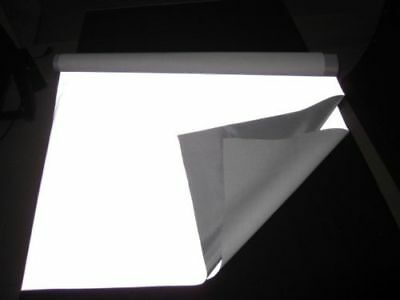"Silver Reflective Fabric sew silver on material 3'x39"" 1Mx1M"