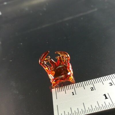 Glass crab tiny miniature figurine crystal  ornament collectible gift room decor