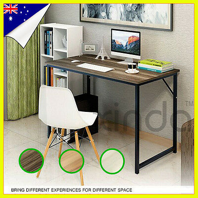 PC Home Office Study Student Computer Wood Metal Desk Furniture Laptop Table NEW