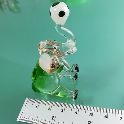 glass blown elephant figurine animal collectible crystal Art ornament hand gift