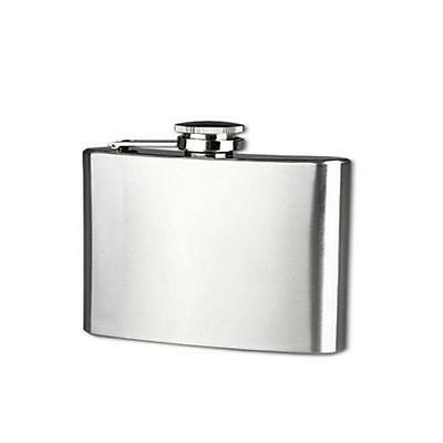Free Shipping Stainless Steel Pocket Hip Flask Alcohol Whiskey Liquor Screw Cap