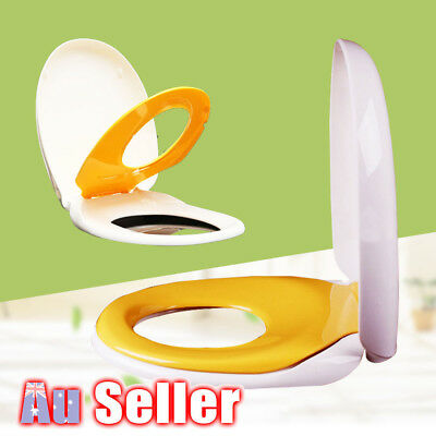 2 in 1 Toilet Seat Ring Cover Kids Child Toddler Adult Family Potty Training