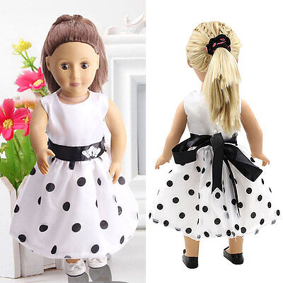 White Summer Party Dress Clothes fit 18'' Doll Girl Our Generation Dolls PRO
