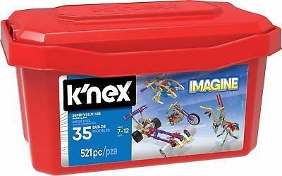 K'NEX 33121 - Building Set - 521 Super Value Tub - 521 Pieces - 7+ - Bau- und...