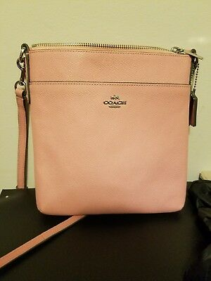 NWOT Coach 52348 Embossed Textured Leather Swingpack Blush Pink, Light Pink