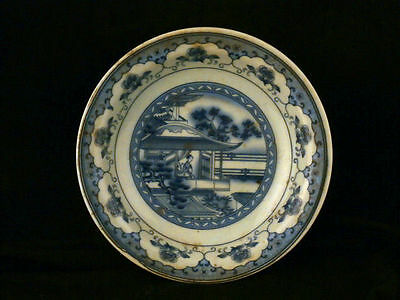 Special 19thC Antique Chinese Blue & White Porcelain Plate