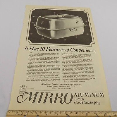 VTG 1921 Ladies' Home Journal Advertisement Mirro Aluminum