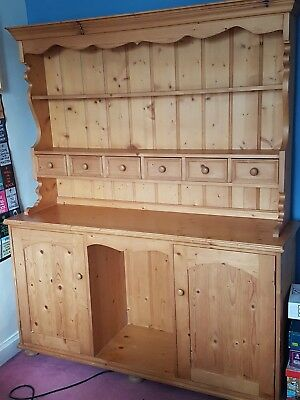 Beautiful , Large , traditional Solid Pine Welsh Dresser ** shabby chic project*